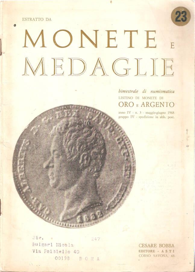 Estratto da Monete e Medaglie