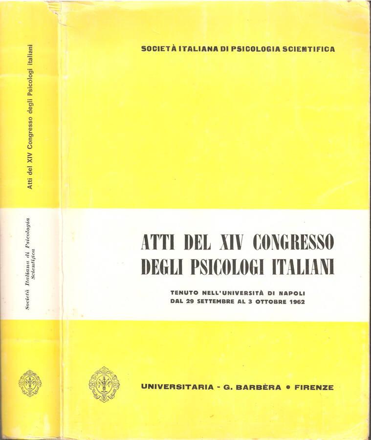 Atti del XIV congresso degli psicologi italiani