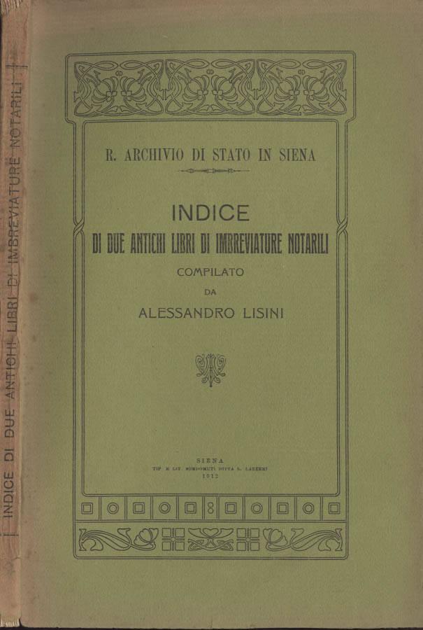 Indice di due antichi libri di imbreviature notarili