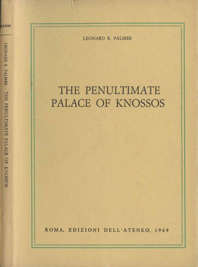 The penultimate Palace of Knossos
