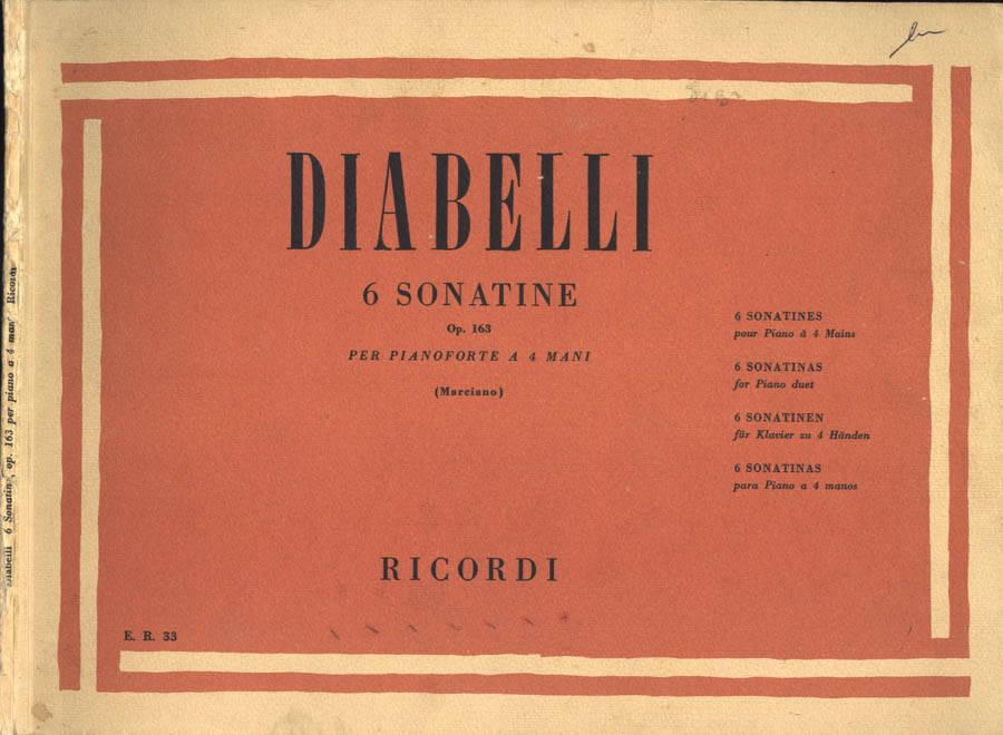 6 sonatine per pianoforte a 4 mani