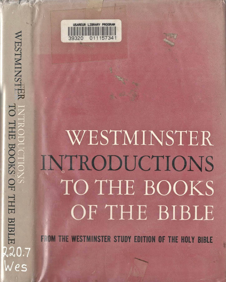 Westminster Introductions to the Books of the Bible