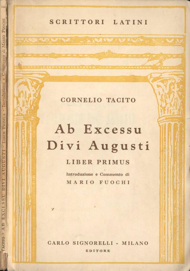 Ab Excessu Divi Augusti. Liber primus.