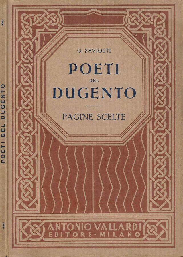 Poeti del Dugento. Pagine scelte.