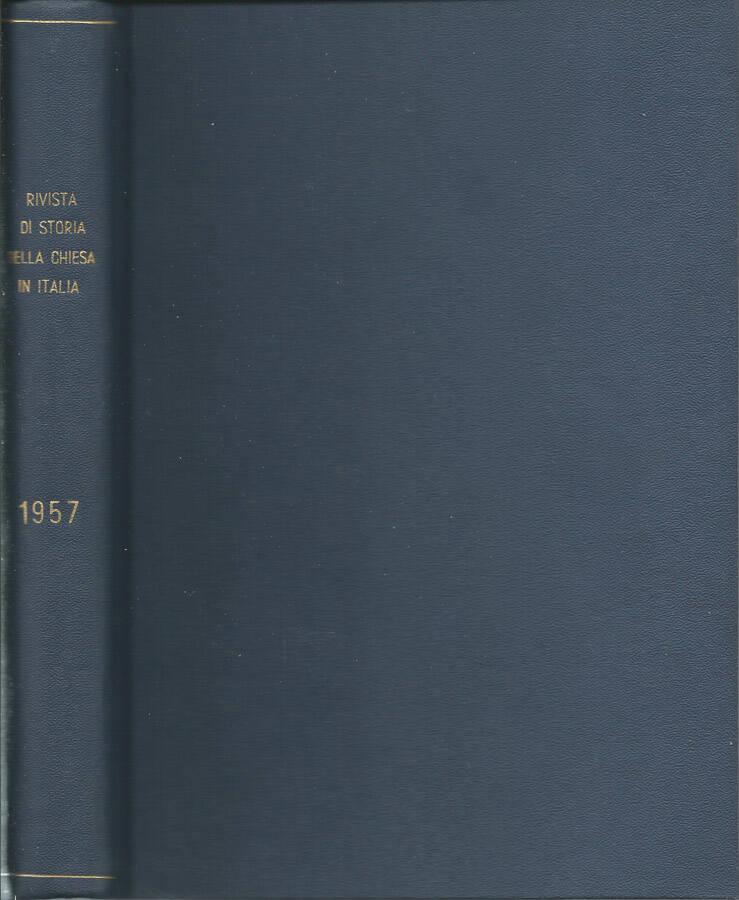 Rivista di storia della Chiesa in Italia-1957