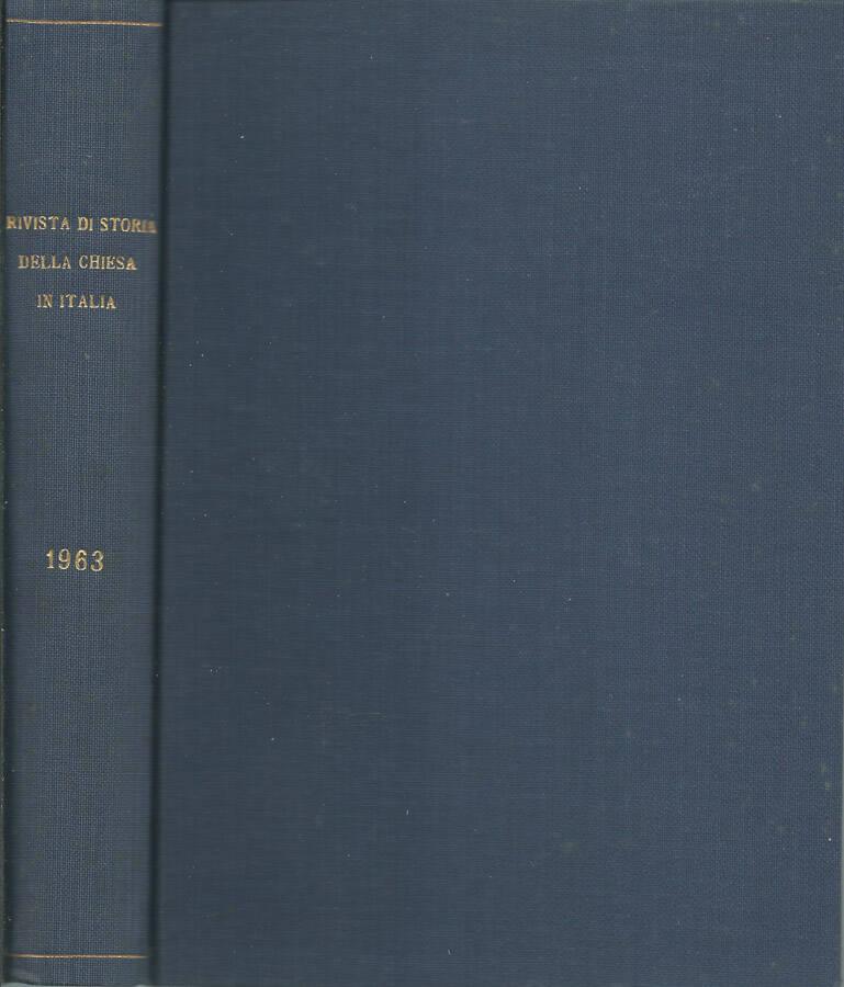 Rivista di storia della Chiesa in Italia-1963