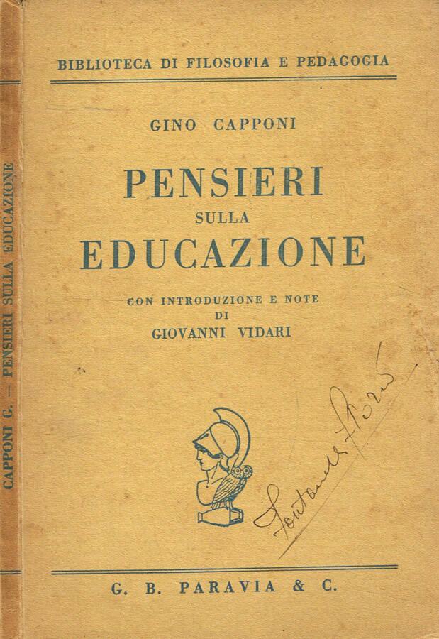 Pensieri sulla educazione