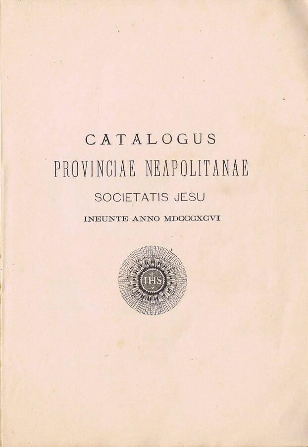 Catalogus Provinciae Neapolitanae Societatis Jesu