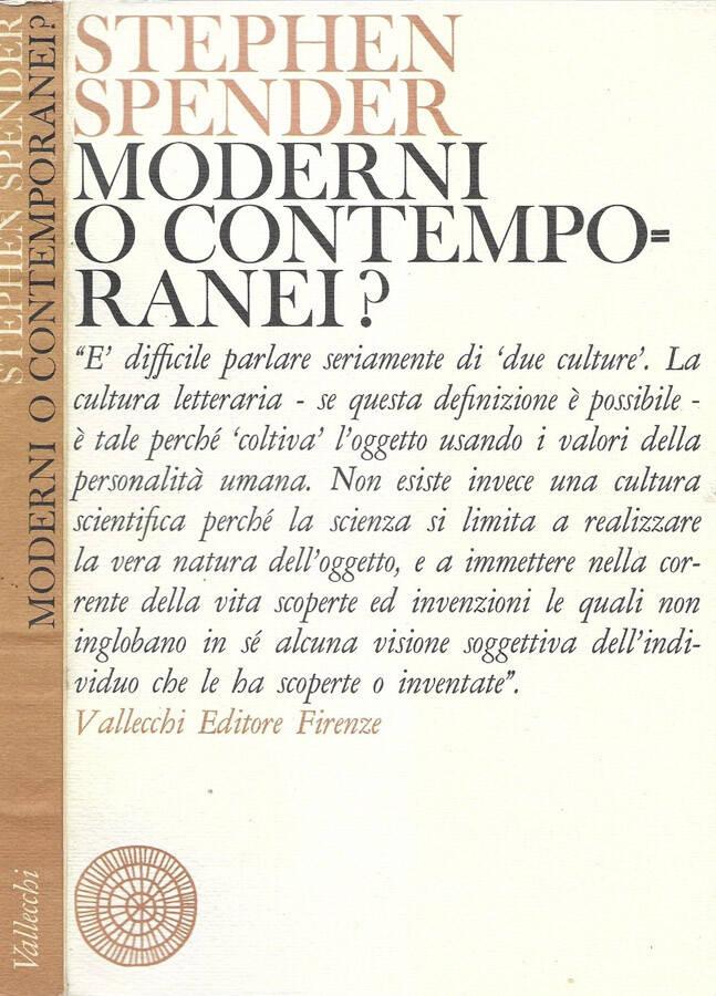 Moderni o contemporanei?