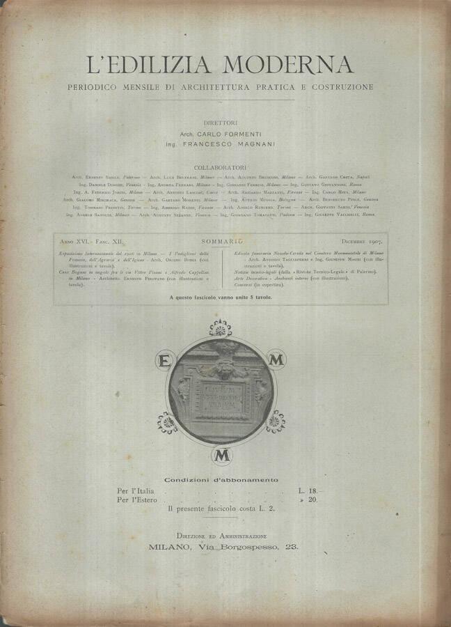 LEdilizia Moderna Anno XVI 1907