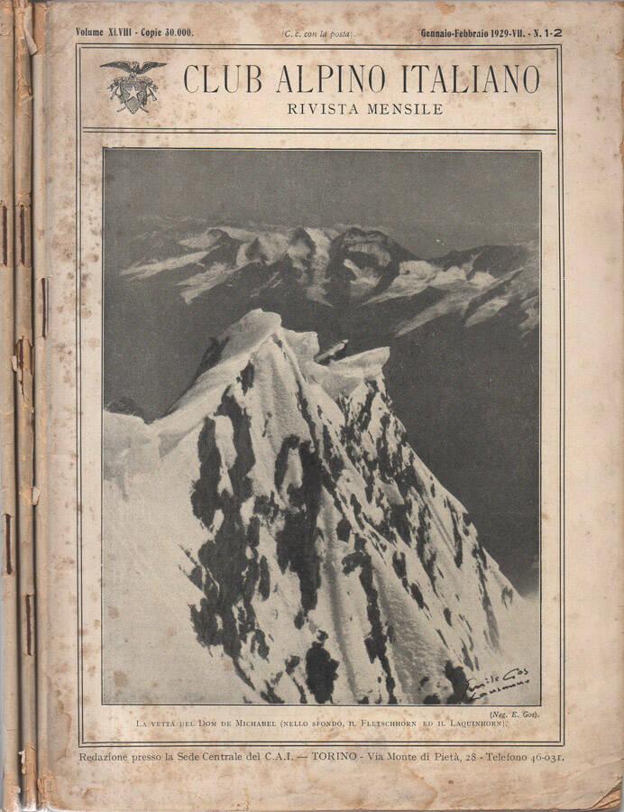 Club Alpino Italiano - 1929