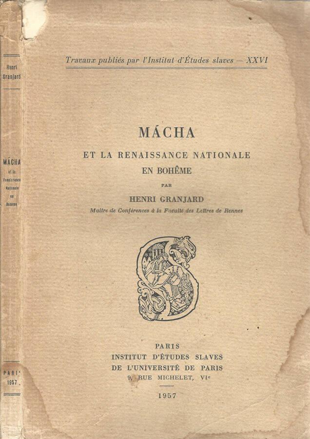 Macha et la renaissance nationale en Boheme