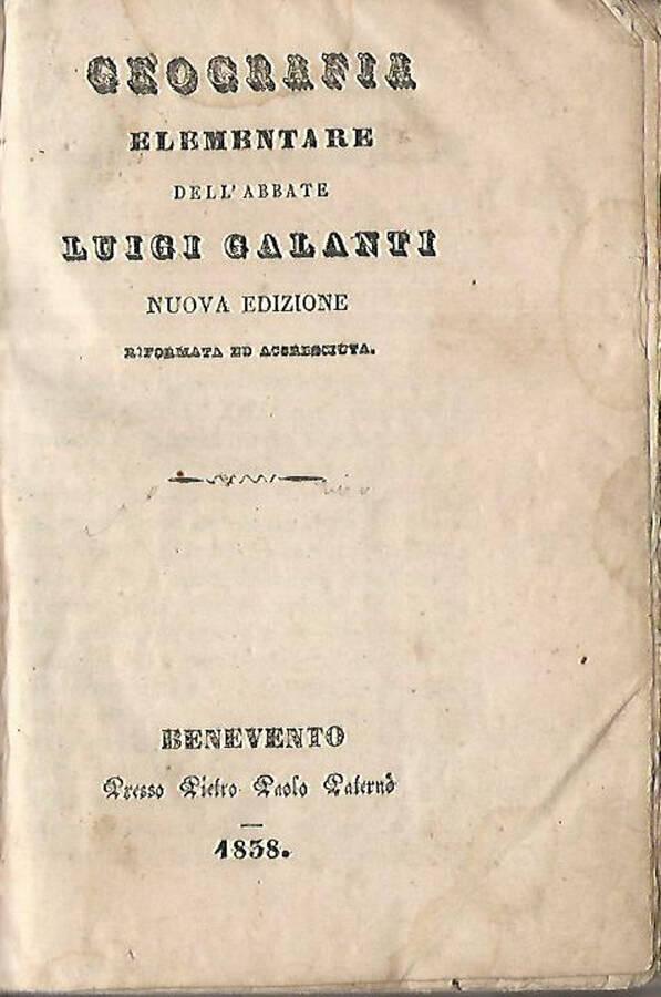 Geografia elementare dellAbate Luigi Galanti