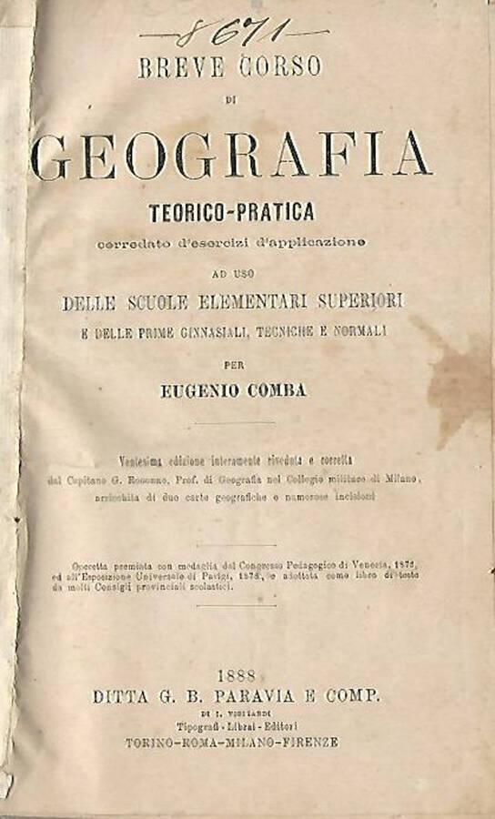 Breve corso di Geografia teorico-pratica – Nuova Grammatica della lingua italiana