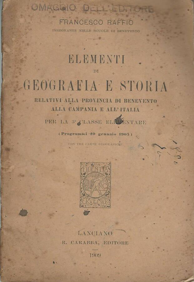 Elementi di geografia e storia