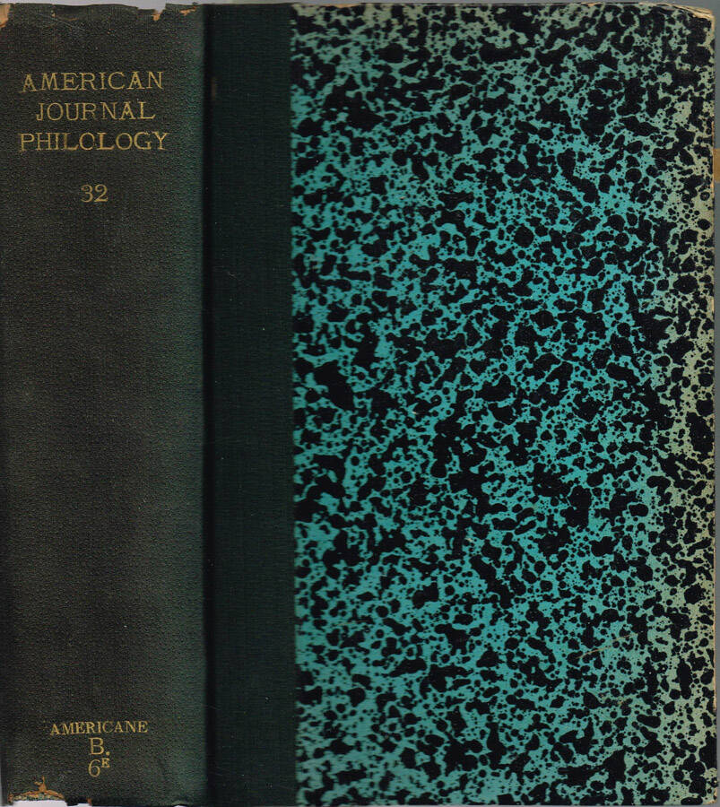 The American Journal of Philology - Vol. XI - N.os 41, 42, 43, 44; 1890