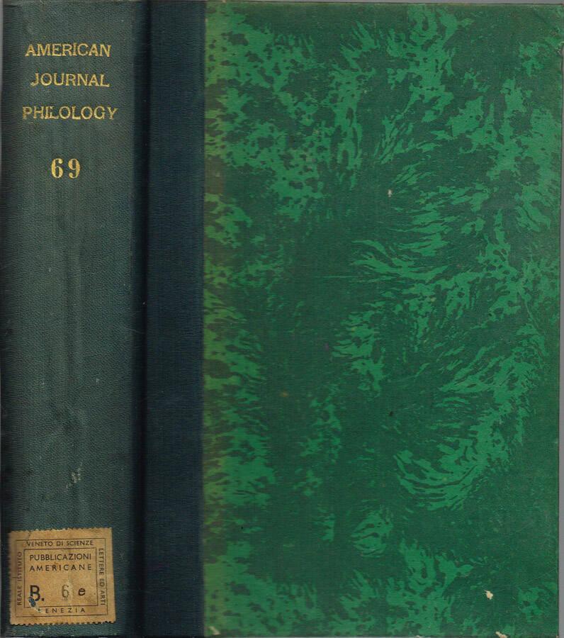 American Journal of Philology - Vol. LXVI - N.os 261, 262, 263, 264; 1945