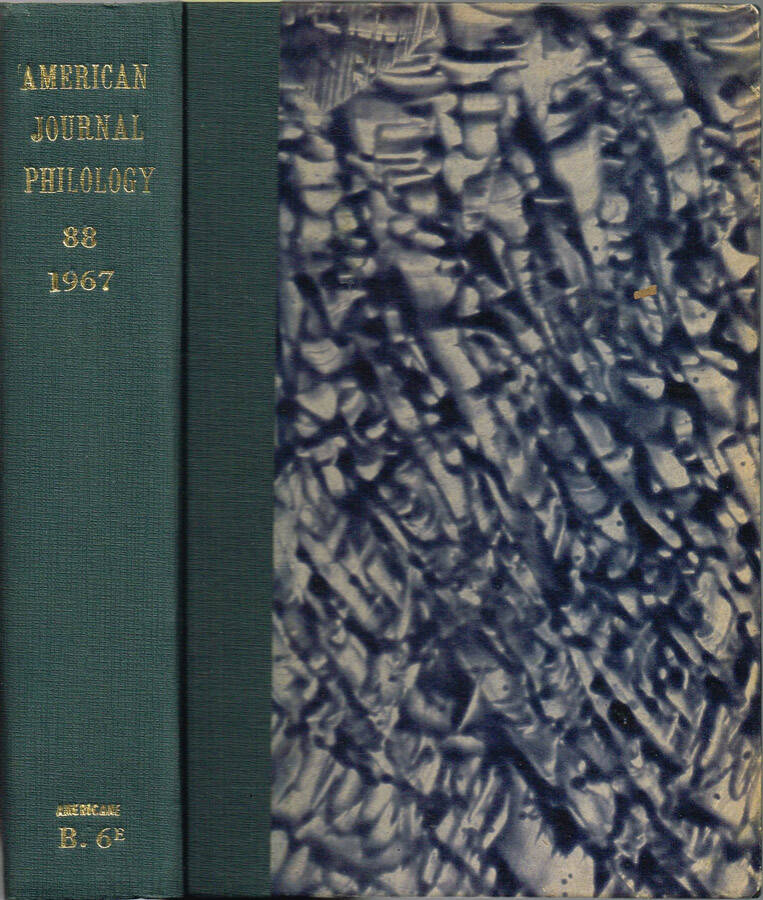 American Journal of Philology - Vol. LXIX - N.os 273, 274, 275, 276; 1948