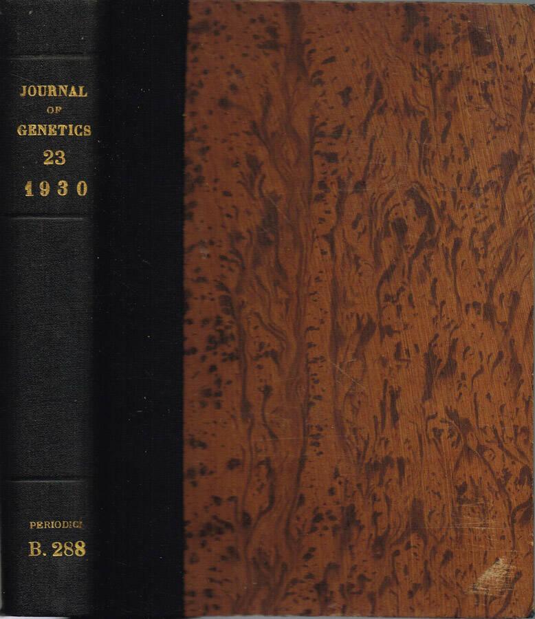 Journal of Genetics - Volume XXI - No. 1, April, No. 2, August, No. 3, Dicember; 1929