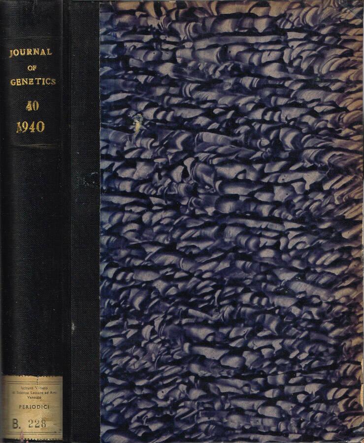 Journal of Genetics - Volume XXXVIII - No. 1 and 2, July, No. 3, September; 1939