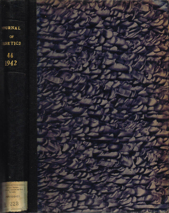 Journal of Genetics - Volume XL - No. 1 and 2, May, No. 3, August; 1940