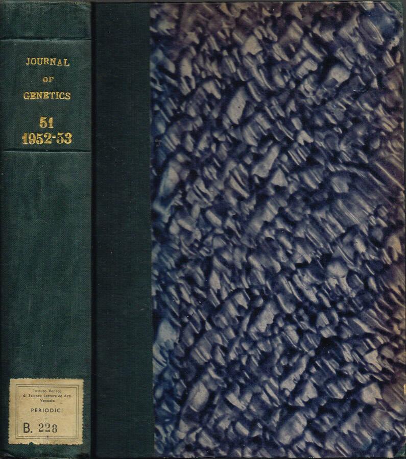 Journal of Genetics - Volume XLIX - No. 1, May 1948, No. 2, October 1948, No. 3, December 1949