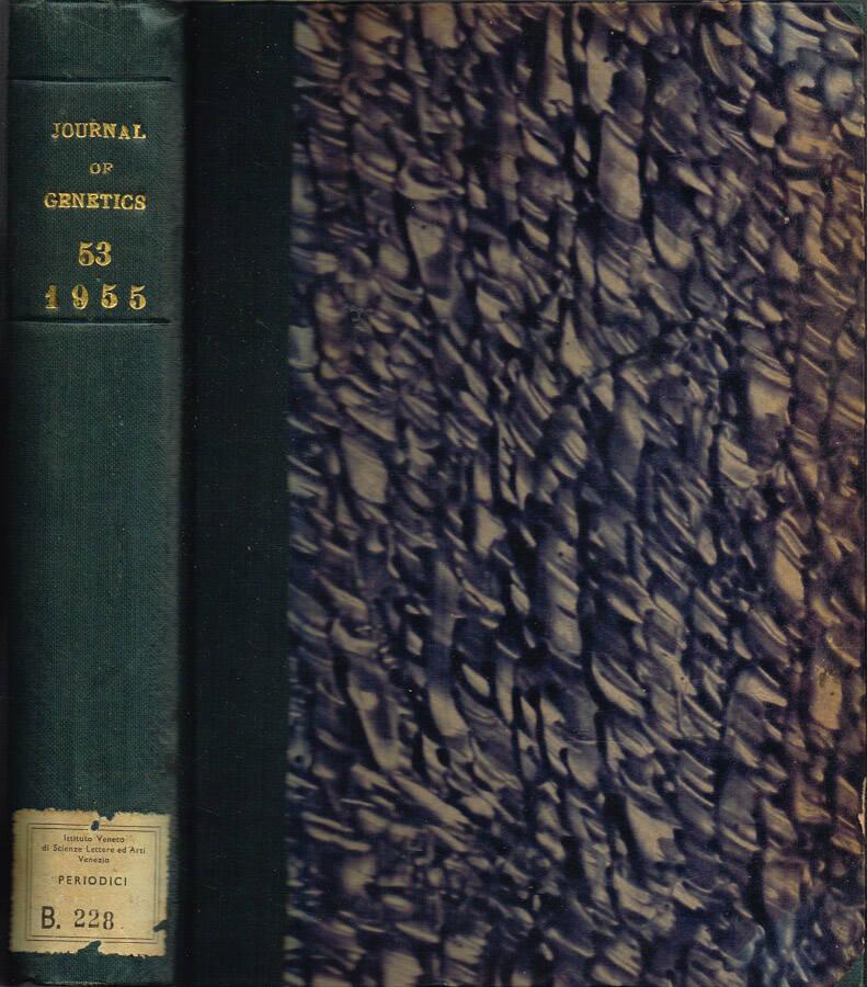 Journal of Genetics - Volume LI - No. 1, July 1952, No. 2, January 1953, No. 3, July 1953