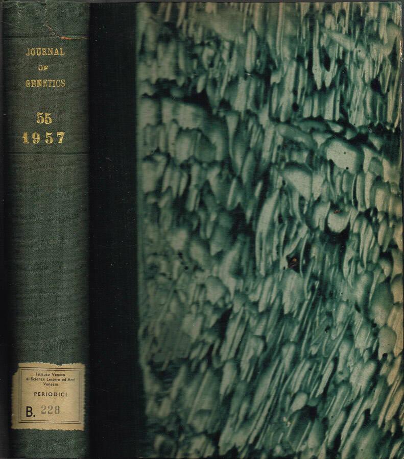 Journal of Genetics - Volume LIII - No. 1, January, No. 2, May, No. 3, September; 1955