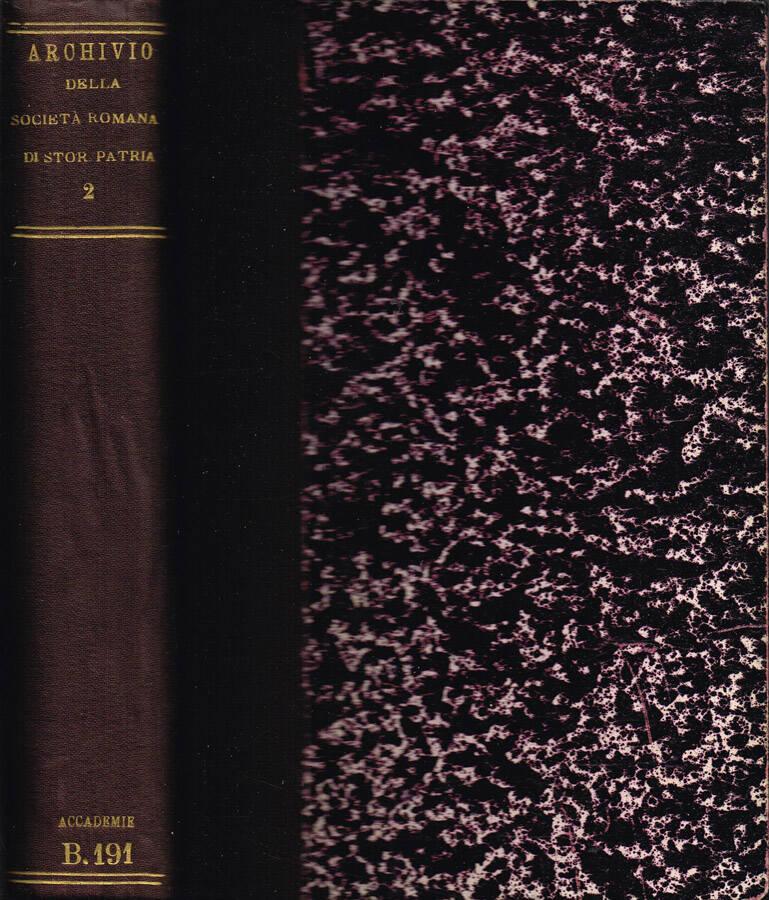Archivio della Società Romana di Storia Patria - Vol. I - 1877
