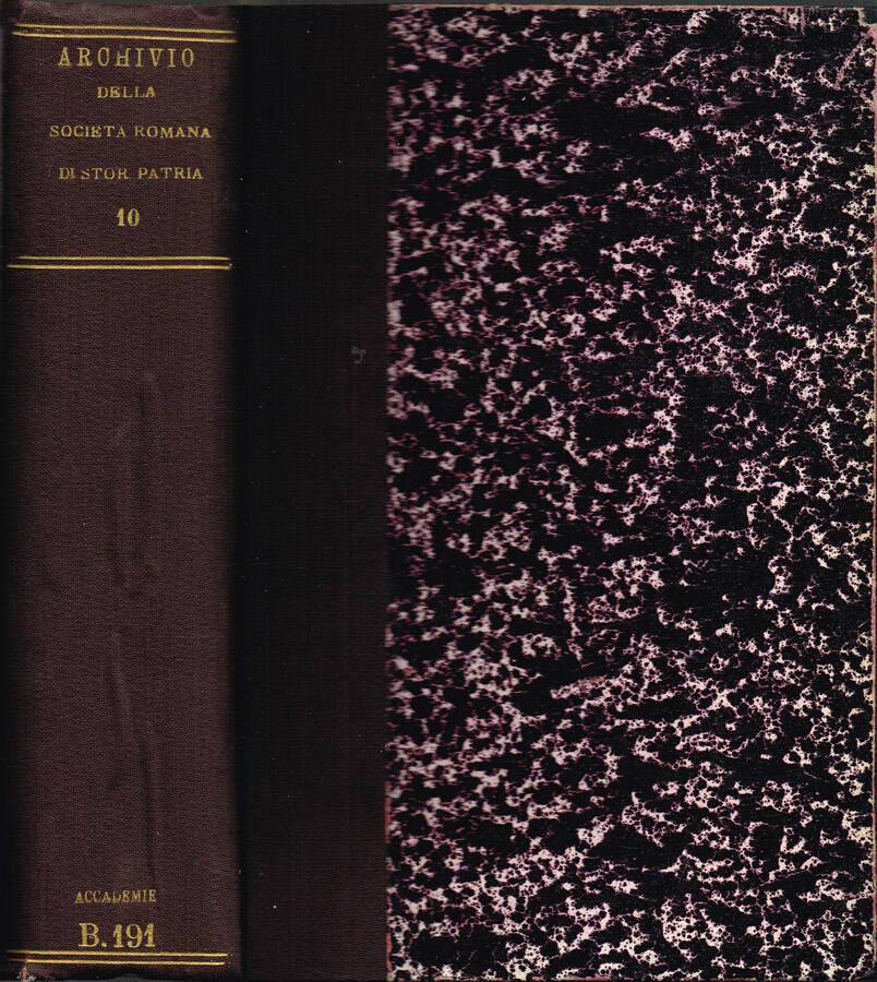 Archivio della R. Società Romana di Storia Patria - Vol. IX - 1886