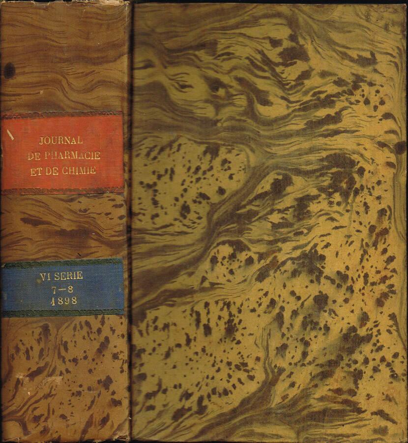 Journal de Pharmacie et de Chimie (fondé en 1809) - Sixième série - Tome Premier - Tome Deuxième - 1895