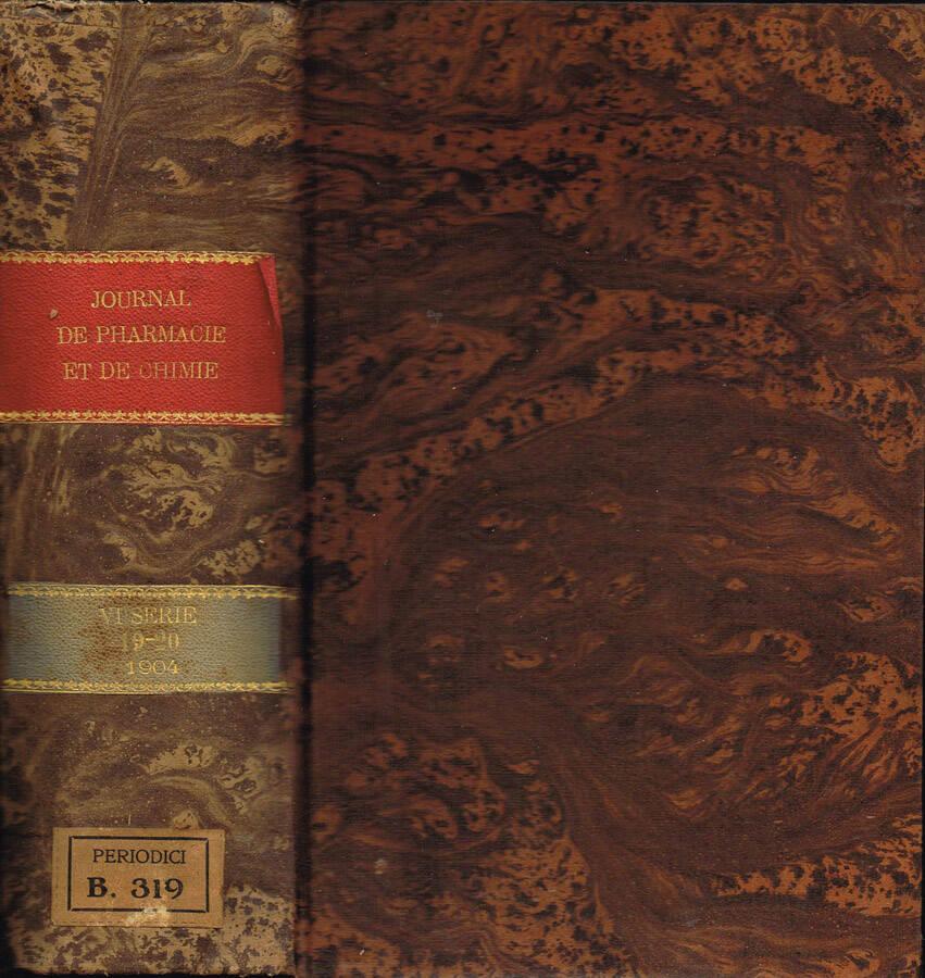 Journal de Pharmacie et de Chimie (fondé en 1809) - Sixième série - Tome Quinzième - Tome Seizième - 1902