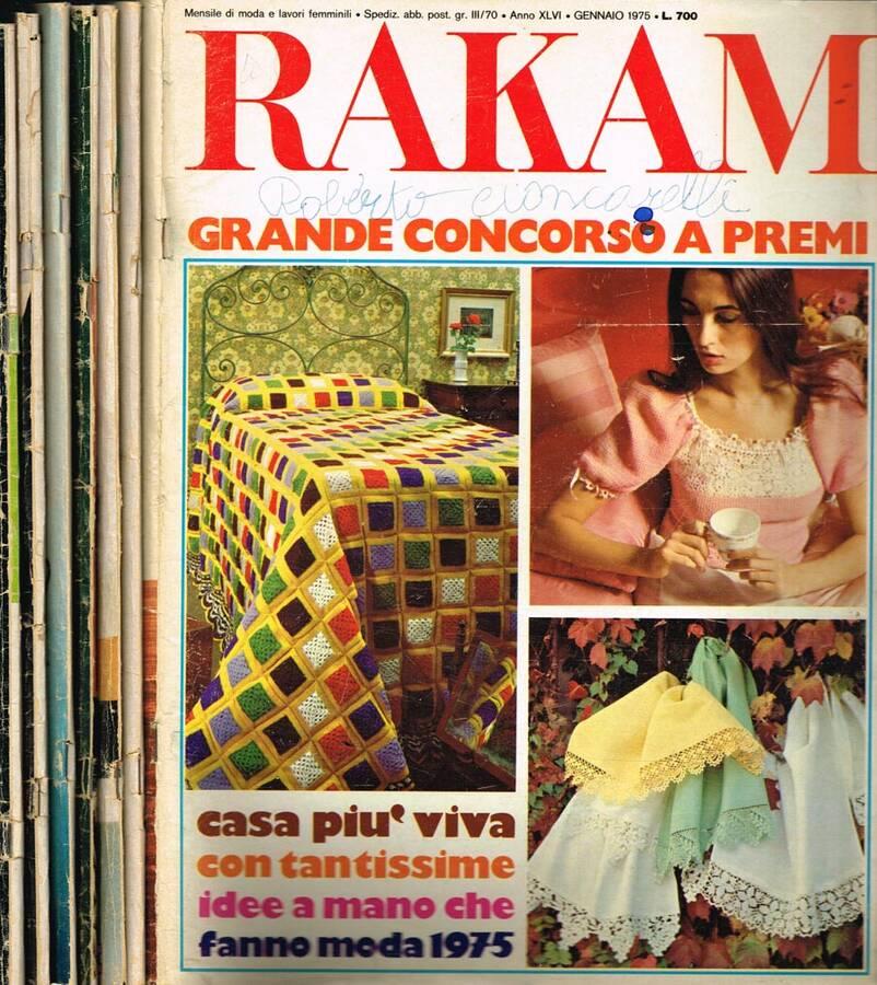 RAKAM N.GENNAIO 72-74-75, APR.71, MAG.SET.OTT. 70
