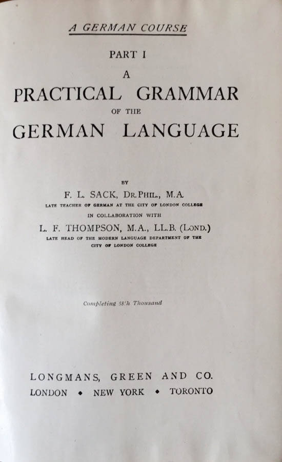 A practical grammar of the German language ((Part I)