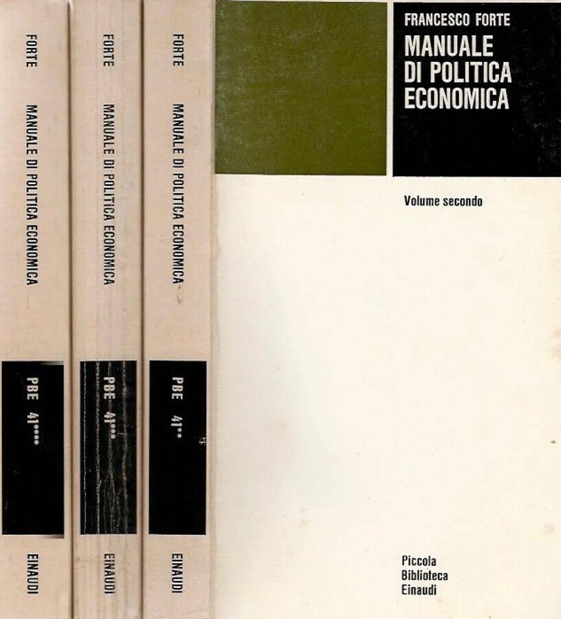 Manuale di politica economica  vol. II - III - IV