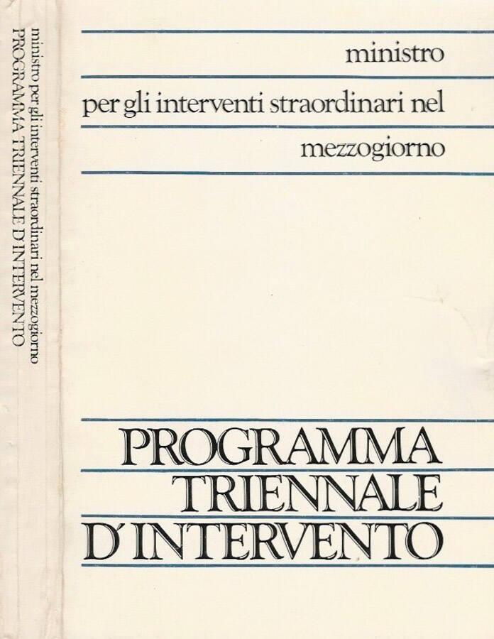 Programma triennale dintervento 1985 - 87